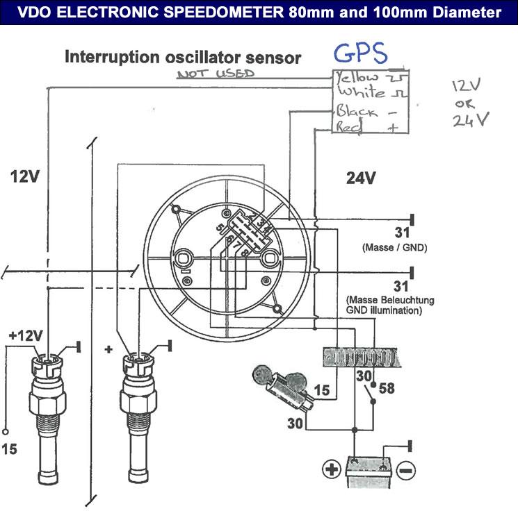 vdo sdometer gauge wiring diagram also vdo tachometer wiring